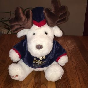 NEW Vintage 2000 White Holiday Moose w/ Antlers